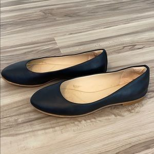 Clark's Grace Piper Flat in Black Leather